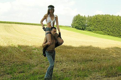Femdom shoulder riding