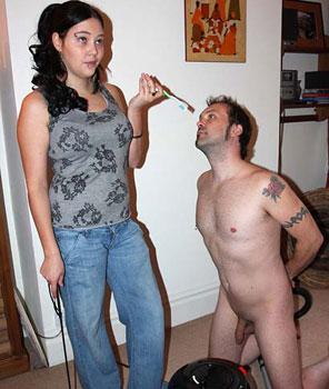 Femdom Home Slave